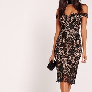 Missguided Lace Off the Shoulder Dress